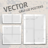 Vector grunge posters — Stock Vector