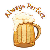 Always Perfect beer poster — 图库矢量图片