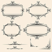 Four elegant vector vintage frames — Stock Vector