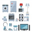 Colored icons of home appliances — Stock Vector #48872927