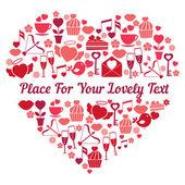 Aşk kalp şekli — Stok Vektör