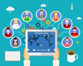 Outsourcing arbete — Stockvektor