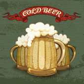 Retro style poster for Cold Beer — Vecteur