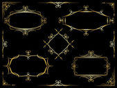Vector decorative ornate frames — Vector de stock