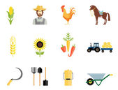Farmer tools icons — Vettoriale Stock
