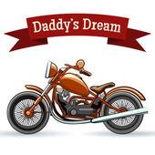 Färgade retro motorcykel design — Stockvektor