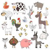 Les animaux de ferme — Vecteur