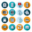 Set of household appliances flat icons — Stock Vector #49579309