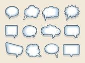 Set of vector speech or thought bubbles — Stock Vector