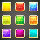Set of vibrant bright glossy web buttons — Stock Vector