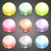 Set of colorful round baubles or balls — Stock Vector