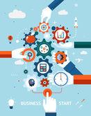 Business and entrepreneurship business start — Stock Vector