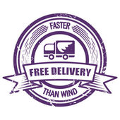 Grunge Faster Than The Wind delivery stamp — Stock Vector