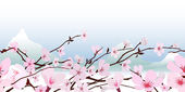 Delicate pink spring blossom — Stock Vector