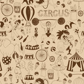 Retro seamless circus background pattern — Stock Vector