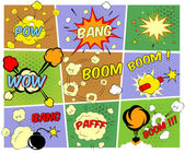 Mockups of comic book speech bubbles — Stock Vector
