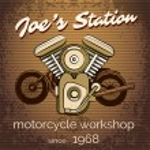Постер, плакат: Vector motorcycle repair shop poster