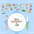 Best Breakfast For You — Stock Vector #50395431