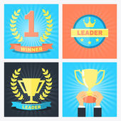 Winner badges — Stock Vector