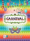 Carnival poster — Stock Vector