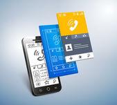 Mobile development — Stockvektor