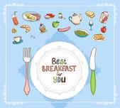 Best Breakfast For You — Stock Vector