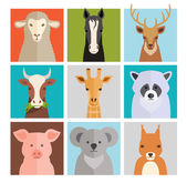 Set of vector animal icons — Vector de stock