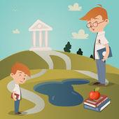Torna alla illustrazione vettoriale scuola — Vettoriale Stock