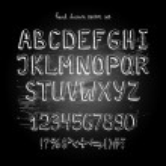 Chalkboard alphabet — Stock Vector #50777673