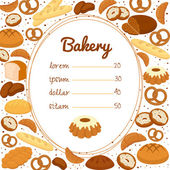 Bakery menu or price poster — Stock Vector