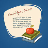 Knowledge Is Power Poster — Stock Vector
