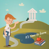 Its Time To Learn — Stock Vector