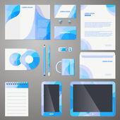 Stylish company brand design template — Stock Vector