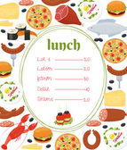 Lunch menu template — Stock Vector