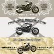 Motorcycle banners — Stock Vector #51119795