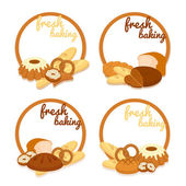 Fresh Baking price badges — Stock Vector
