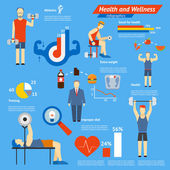 Sport and fitness infographics — Stock Vector