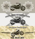Motosiklet afiş — Stok Vektör