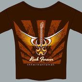 Rock fan tee shirt — Stock Vector