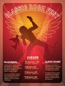 Classic Rock Fest poster design — Stock Vector