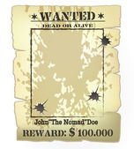Western wanted poster — Stock Vector