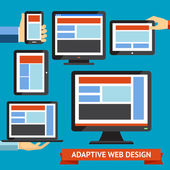 Responsive and adaptive design — Stock Vector