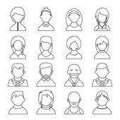 Icone utente — Vettoriale Stock