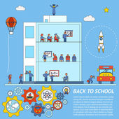 Vector Back to School Infographic Template — Stock vektor