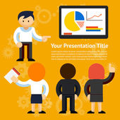 Vector Business Presentation Design — Stock Vector