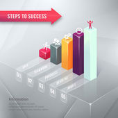 Road to Success Business Chart Infographic Element — Stock Vector