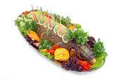 Baked fish — Stock Photo