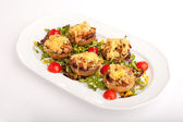 Stuffed mushrooms with cheese — Stock Photo