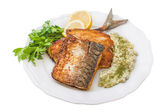 Fried fish in breadcrumbs — Stock Photo