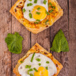 Stock Photo: Pies with egg